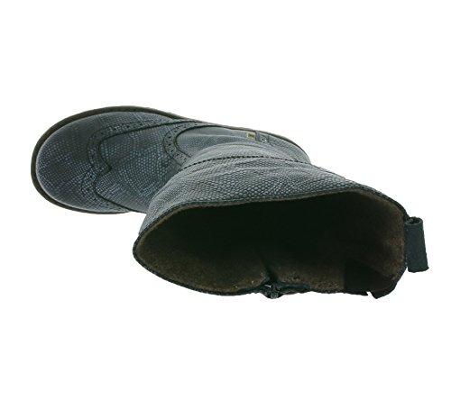 bisgaard Snake Print Les bottes d'enfant en cuir noir 60317.216 212