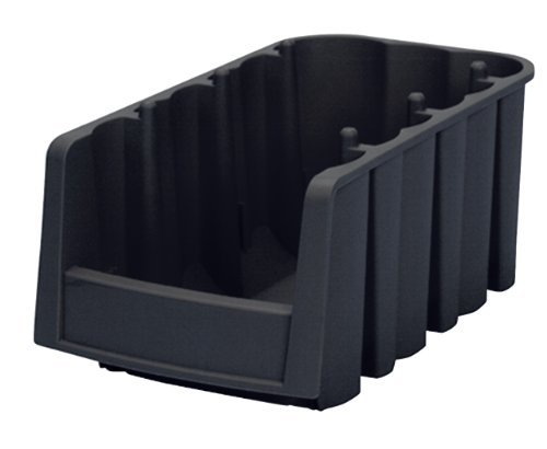 Akro-Mils 30716 Economy Stacking Nesting Plastic Storage Bin, 11-7/8-Inch Long by 6-5/8-Inch Wide by 5-Inch High, Black, Case of 10 by Akro-Mils