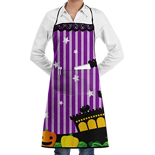 Cute Halloween Theater South Lights Bat Castle Utility Activity Toolbelt Work Best Prime Supply Customize Smocks Adjustable No-tie Full Cooking Apron with Pockets for Kids Teacher