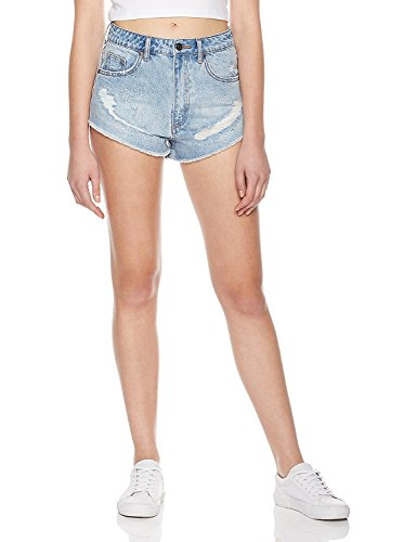 Lily Parker Women's Embroidered Hot Pants Denim Shorts Jeans