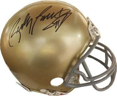Rudy Ruettiger signed Notre Dame Fighting Irish Riddell Mini Helmet #45 (black sig)- Witnessed Hologram - JSA Certified