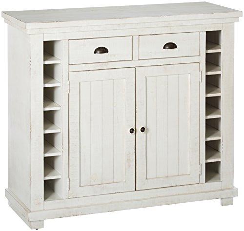 Progressive Furniture P820-56 Willow Server, Distressed White