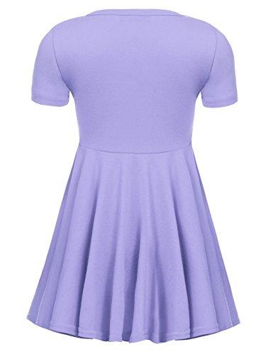 Arshiner-Girls-Dress-Short-Sleeve-A-Line-Skater-Swing-Asymmetrical-High-Low-Hem-Casual-Dress