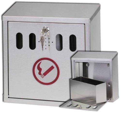 Wandascher + Auffangbehälter Edelstahl Aschenbecher Modell ELECSA 1090