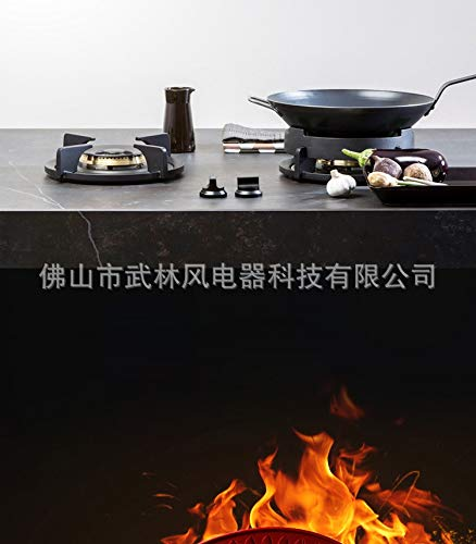 Home Knob Built-in Gas Hobs Gas Double Cooktop Stove Liquefied Gas Energy Saving Black Crystal Explosion-proof Tempered by SMILESSGSP (Image #3)