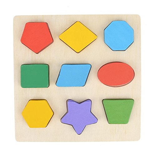 Greensun TM木製玩具Intelligence教育子供初期学習教育玩具パズルジオメトリCognitionペアリングボード   B07DP7BTMJ