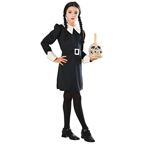 The Addams Family Costumes Wednesday (Addams Family Wednesday Girls Kids Youth Costume (M))