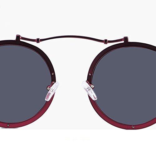 sol a lente de estilo HONEY prueba personalizado redondo C pareja marco Gafas B explosiones HD Color polarizadas de Retro 0Ex0w5qfz