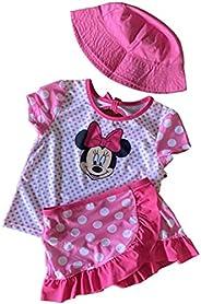 Girls Minnie Mouse 3 Piece Swim Set UPF 50+