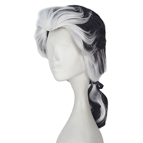 Miss U Hair Medium Long Wavy Brown White Mixed Color with Braid Men Adult Cosplay Costume Wig for $<!--$20.99-->