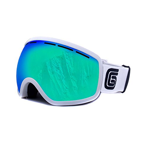 Grayne Whiteout MTN Goggles with Icefall Anti-Fog Lens and Extra Yellow Low-Light Lens by Grayne