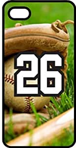 Baseball Sports Fan Player Number 26 Smoke Rubber Decorative iPhone 5/5s Case