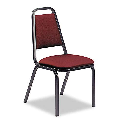 OKSLO 8926 series vinyl upholstered stack chair, 18w x 22d x 34-1/2h, wine/black, 4/ct ()
