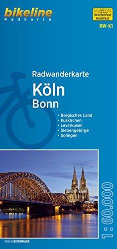 Radwanderkarte Köln RW-K1: Bonn wasserfest/reißfest (bikeline Radwanderkarte)