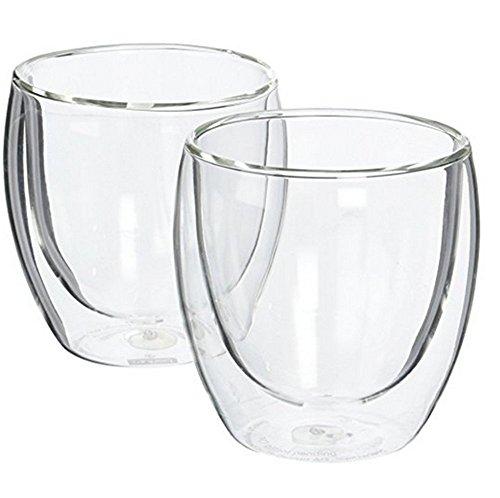 Doble pared vidrio resistente al calor mug-transparent, 250ML