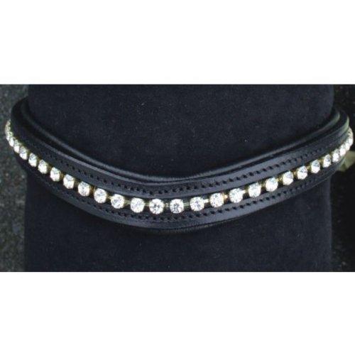 HKM 59359100 Stirnband - Wave - mit synthetischen Brillanten, L, schwarz
