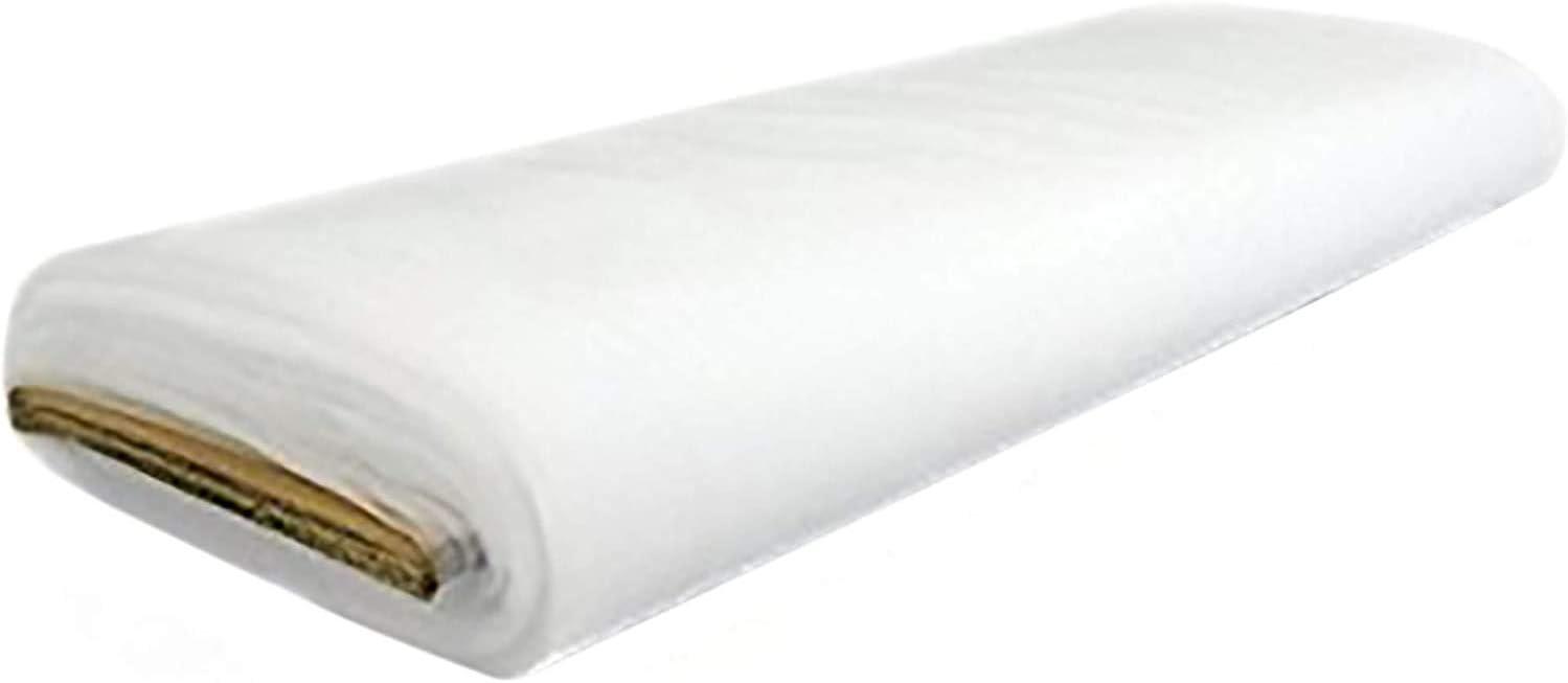 "FabricLA Bridal Wedding Tulle Fabric 108"" Wide 50 Yard Bolt (Snow White)"