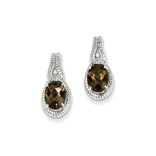Best Designer Jewelry Sterling Silver Smoky Quartz Earrings