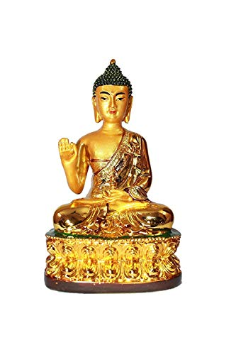 (Creativegifts Fengshui Lord Buddha in Blessing Mudra Home Decor Statue- (4x3x2) in)