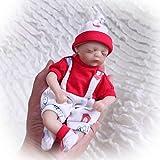 iCradle 8''20cm Mini Baby Reborn Doll Vinyl Silicone Realistic Looking Baby Cute Eyes Closed Xmas Gift (Girl)