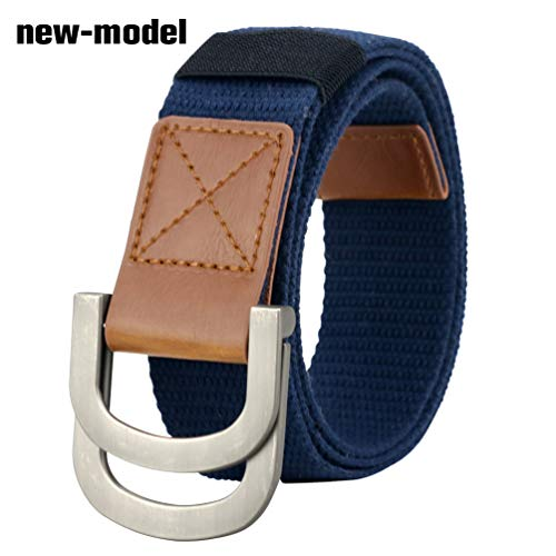 Maikun Belts Military Web Canvas Double D-Ring Buckle Tactical Belt Valentine's Day
