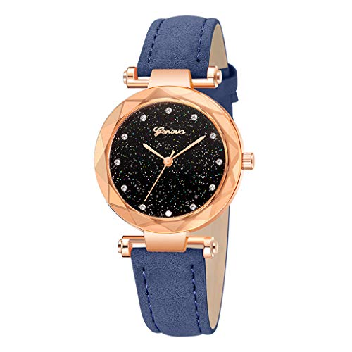 14k Antique Pocket Watch - Londony✡Women's Watches Leather Rhinestone Inlaid Quartz Jelly Wristwatch Geneva Chronograph Watch with Crystals Link
