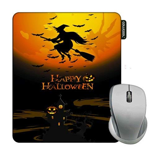 Cowcool Mouse Pad with Happy Halloween Wich Mouse Pads for Computers Laptop Gameing -
