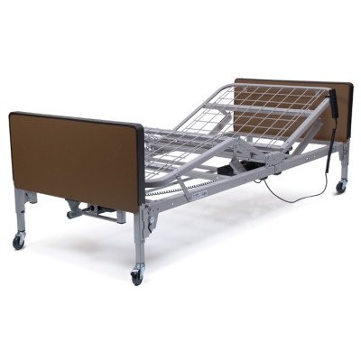 - Patriot Semi-Electric Bed Plastic Ends: With, Mattress: 1633-Innerspring Mattress with Foam Sleep Surface, Side Rails: FDA Full