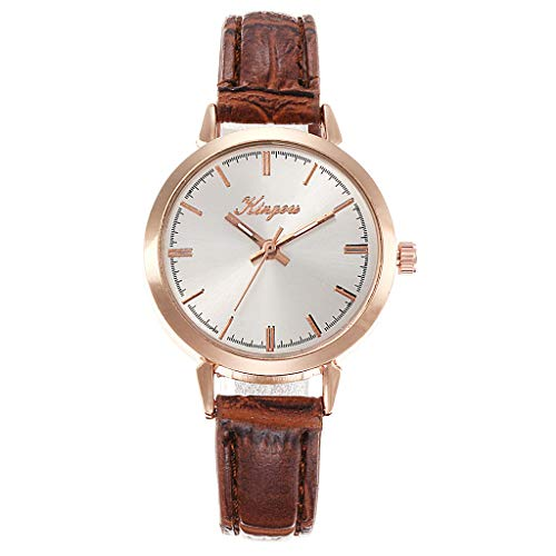 (LUCAMORE Women Wrist Watch,Ladies Fashion Quartz Wrist Watches with Comfortable Leather Strap )