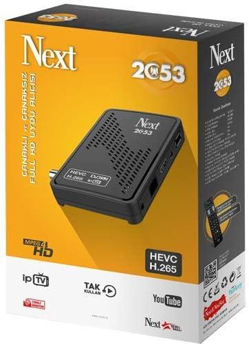 Port ethernet Next 2053 Full HD R/écepteur d/écodeur Satellite TV DVB-S2 avec Antenne WiFi USB 1080p Full HD Soutient Youtube PVR CCcam Newcam