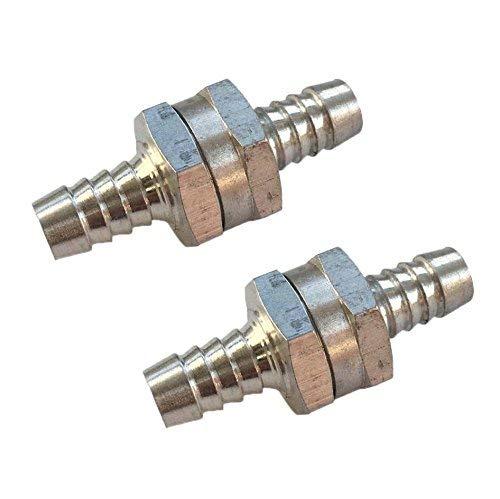 Am 2/x V/álvula antirretorno aluminio 10/mm fuerza sustancias Diesel Gasolina Aceite Vegetal V/álvula gas para manguera de combustible 10/mm