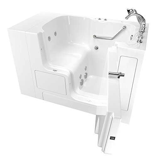 "American Standard 3252OD.709.WRW-PC Gelcoat Value Series 32"" x 52"" Outward Opening Door Walk-In Bathtub with Whirlpool Massage system, White"