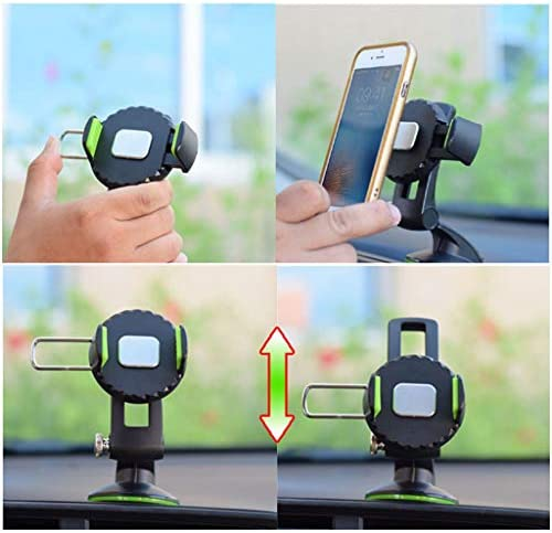 車の電話360回転サクションカップブラケット、中央制御インストルメントパネルシリコンサクションカップカーナビゲーション携帯電話ホルダー (色 : 緑)