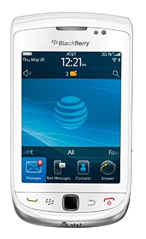 BlackBerry Torch 9800 Phone, White (AT&T) (Blackberry 9800 Gsm)