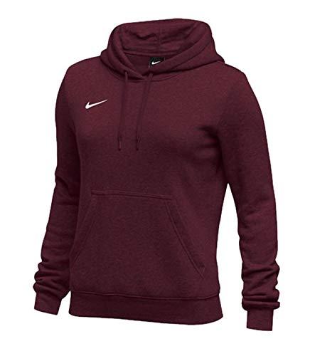 Maroon Pullover Hoodie - Nike Womens Pullover Club Fleece Hoodie (Small, Maroon)