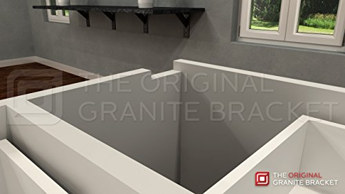 Countertop Support Bracket Side Wall Bracket 22'' Right Angle by Wholesale Hidden Granite Brackets (Image #1)