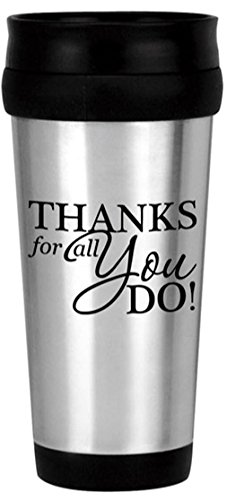 36-Piece Thank You Stainless Tumblers/Stainless Steel Thank You Travel Mugs/Teacher Thanks/Corporate Thank You Travel Mugs/Holiday Thank You Gifts/Mother's Day Thank You Mug/Nurse's Day Gifts by CGS BRANDING