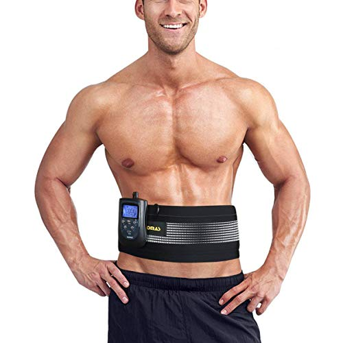 DOMAS Ab Belt Abs Stimulator Electronic Abdominal Muscle Stimulator Toning Belt for Men and Women