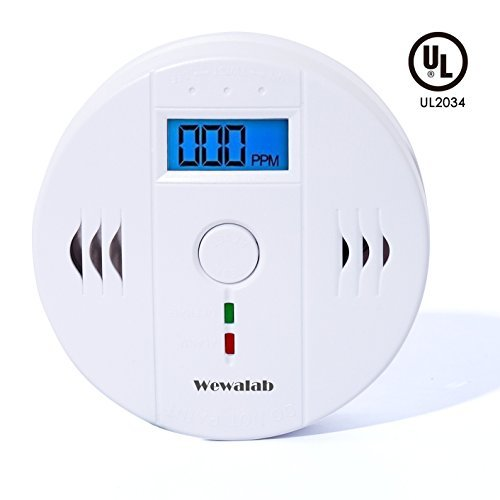Wewalab CO Detector Carbon,Wewalab Super Monoxide Alarm LCD Portable Security Gas CO Monitor,Battery Powered (Battery not included)