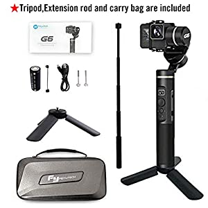 Feiyu G6 Gimbal Stabilizer for Gopro Hero 6/5/4 with WiFi build in Including Tripod and Extension rod