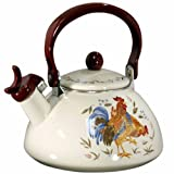 Corelle Coordinates by Reston Lloyd Harmonic Hum Whistling Teakettle, 2.2 Quart, Country Morning