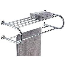 Organize It All Shelf with Towel Rack (1750), Metallic