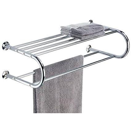 Amazon.com: Organize It All Mounted Chrome Bathroom Shelf with Towel ...