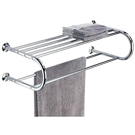 Organize It All Wall Mounted Bathroom Wall Shelf with Towel Rack ...