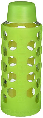 UPC 816749010497, Aquasana AQ-6006-LGRN 18-Ounce Glass Water Bottle with Silicone Sleeve, Light Green