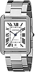 Cartier Men's W5200028 Analog Display Automatic Self Wind Silver Watch