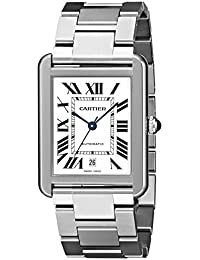 Mens W5200028 Analog Display Automatic Self Wind Silver Watch. Cartier