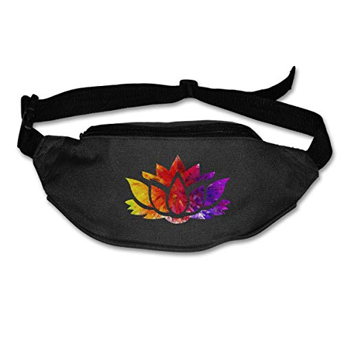 (TAOHJS76 Men's and Women's Waist Bag Fit All Phone Models and Fit All Waist Sizes Topaz Ruby Sapphire Lotus Flower Best for Running, Workouts, Cycling, Travelling)