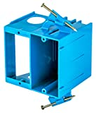 Bryant Electric RR1500 Thermoplastic Recessed 2-Gang Plastic Nail on Box, 4.04' x 3.69' x 3.67', Blue