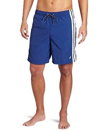 Nautica Men's Anchor Solid Stripe Swim Trunk, Royal, X-Large